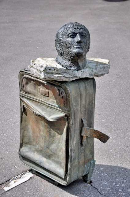 The monuments of the famous Russian poets