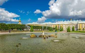 Верхний и нижний парки петергофа